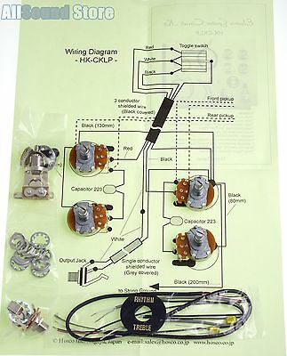 wiring kit for import fender telecaster tele complete w diagram telecaster wiring 5-way switch diagram new wiring kit for gibson epiphone® les paul complete w diagram made in