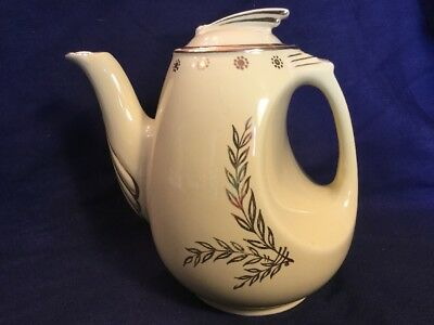 Hall 1940's Tall Teapot # 0779 Yellow And Gold