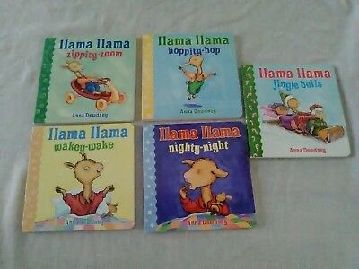 LLAMA LLAMA Lot of 5 Board Books by Anna Dewdney  Wakey- Wake And More Look!