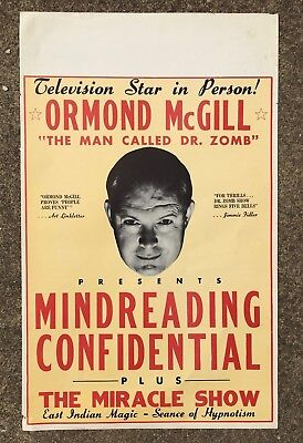DR ZOMB Ormond McGILL Mind Reading Miracle Spook Show Hypnosis  Poster
