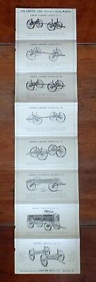 1906-10 Double-sided 8-Fold Ad; Empire Steel Wheel Wagons, Quincy, IL Nice Pics