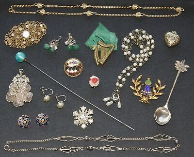 Job Lot Vintage & Modern Collectables & Jewellery - Silver Filigree Pendant etc