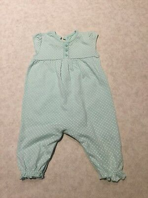 Green Spotty Baby Girls George Asda Long Romper 3-6 Months