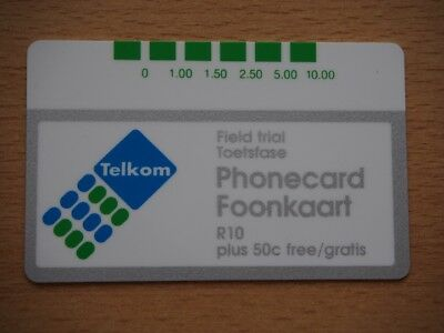 South Africa mint chip phonecard - field trial card.