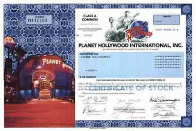 Planet Hollywood 1998 Delaware Bruce Willis Demi Moore Schwarzenegger Stallone #