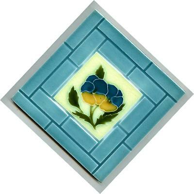 "Relief moulded 6"" square Edwardian tile by Alfred Meakin, c.1905"
