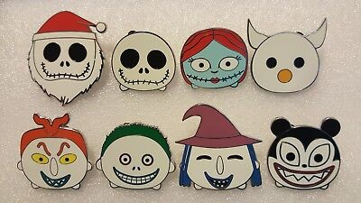 Disney Mystery Pins Tsum Tsum The Nightmare Before Christmas Complete Set Of 8