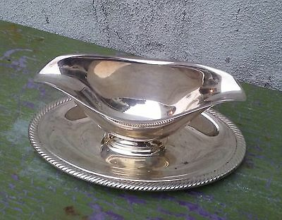 Vintage Castleton International Silver Company Silverplate Gravy Dish Boat #4813