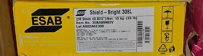 "ESAB Shield-Bright 308L Stainless Flux Core Mig Welding Wire 0.035"" 33lb Spool"