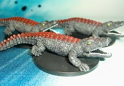 Dungeons & Dragons Miniatures Lot Visejaw Crocodile Swamp Encounter !!  s136