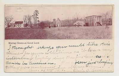 "ANTIQUE POSTCARD:  ""MURRAY GROVE at GOOD LUCK"" NEAR TOMS RIVER, NJ. P/M 1910."