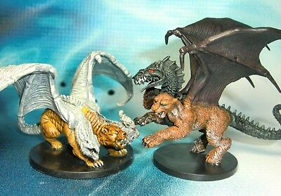 Dungeons & Dragons Miniatures Lot Chimera Bonechill Chimera !!  s136