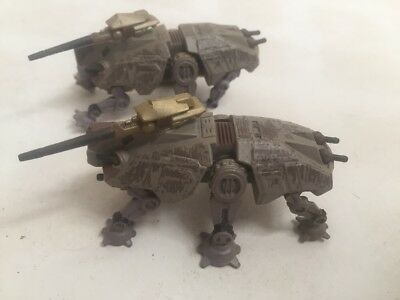 Star Wars MicroMachines Titanium Series LOT OF 4 AT-TE X 2, AT-OT, AT-AP