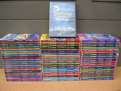 Complete Lot All Goosebumps 1-62 All Original Style Covers + 3 Bonus Bks + DVD!