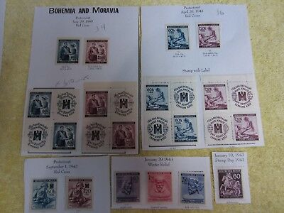 Stamps Germany: Bohemia & Moravia Protectorate Red Cross see Photographs & Desc.