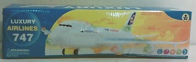 NEW Top Race Bump and Go Action Boeing 747 Airplane with Lights and Real Sounds