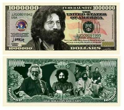 Jerry Garcia Grateful Dead $Million Dollar$ Novelty Bill Collectible