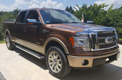 "2012 Ford F-150 SuperCrew 2012 Ford F-150 King Ranch 3.5L 4x4 157""  39k mi Bronze SuperCrew Adobe Leather"