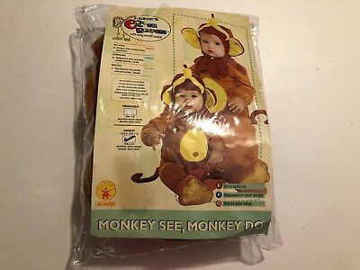 Monkey See Monkey Do Infant Halloween Costume  6-12 months Rubies Easy on Romper
