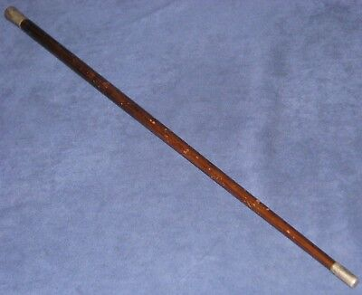 Original WWI USMC Swagger Stick Sterling Silver Marked with EGA Monogrammed