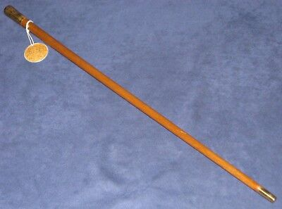 Original WWII USMC Drill Instructor Swagger Stick w/EGA & Old Named Info Tag