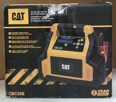 NEW CAT CBC25E 25 Amp Battery Charger with 75 Amp Engine Start $130
