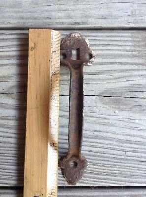 "antique Vintage reclaimed 6 3/4"" Thumb Latch screen door pull handle cast iron"