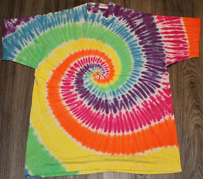 Hippie Style, Tie Dye, Dead Head T Shirt, XL, Used, Retro, Stoner, Weed, Pot
