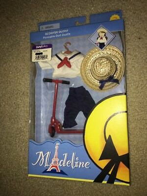 """New 2002 Madeline Scooter Outfit 8"""" Shorts Hat Sailor Top NRFB"""