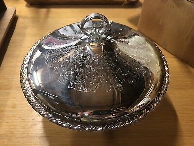 Vintage Orieda Silver Plated Covered Cassarole Dish 8in