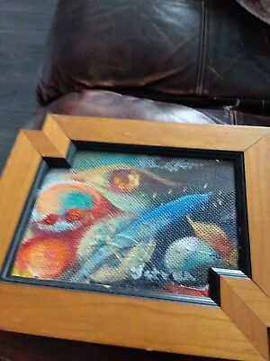 Abstract oil painting made on board