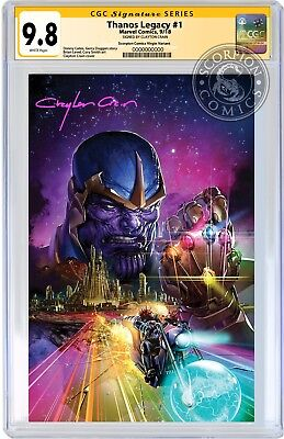 Thanos Legacy 1 Crain Virgin Variant Cgc 9.8 Ss Clayton Crain Cosmic Ghost Rider