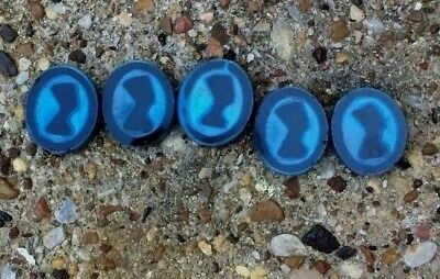 Antique Beads Collectible Egyptian Revival Deco Period Nefertiti Glass Infused