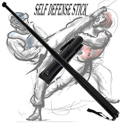 Portable Retractable Self-defense Tool Whip Three Sections Telescopic Sticks