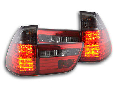 FK-Automotive LED Rückleuchten Set BMW X5 Typ E53 Bj. 98-02 schwarz/rot