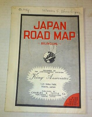 1954 Japan Road Map, fold-out 27x38 inches