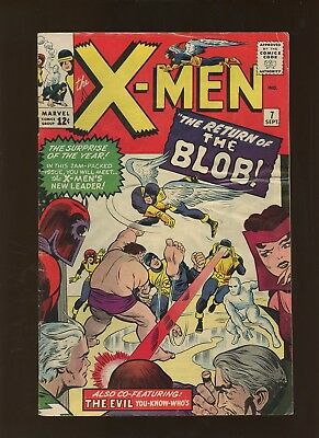 X-Men 7 VG 3.5 * 1 Book Lot * 2nd Blob & He Joins the Brotherhood! Lee & Kirby!
