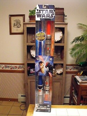 Hasbro Star Wars Jedi vs. Sith Lightsaber Pack Walmart Exclusive New In Package