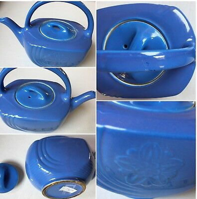 "Vintage Hall Blue Pottery Teapot 7"" USA Genie Type SKU 026-136"