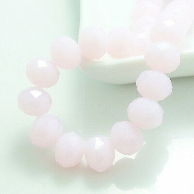 New pink jade Faceted 100pcs Rondelle exquisite crystal #5040 3x4mm Beads*