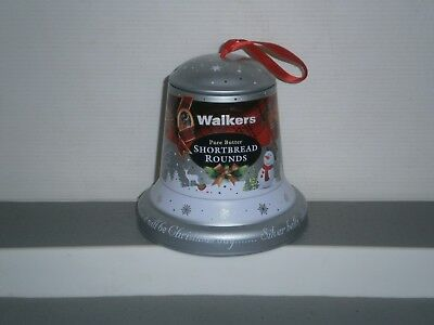 T1858  Walkers Christmas Bell Empty Biscuit Tin 100 G
