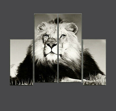 """MODERN ABSTRACT Hand-Painted OIL PAINTING CANVAS """"Lion""""(No Frame)"""
