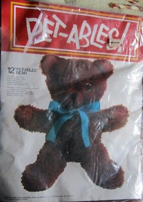 """12"""" PET-ABLES Bear L'IL BEAR #1360 Simplicity   No Stuffing Included"""