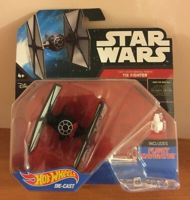 Brand New Star Wars Hot Wheels Die Cast First Order Special Forces The Fighter