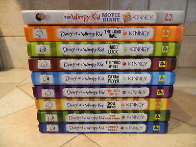 Lot of 4 diary of a wimpy kid hardcover books very nice 1095 lot of 9 hardcover diary of a wimpy kid books books 2 9 solutioingenieria Images