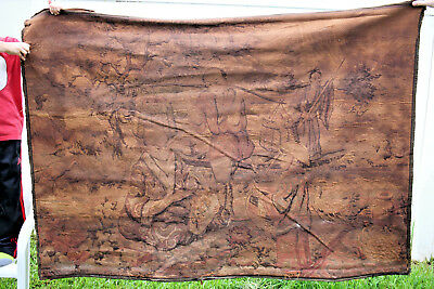 "LARGE ANTIQUE CHINESE EMBROIDERY TAPESTRY 49"" X 69"" - 2 of 2"