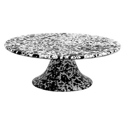 NEW Crow Canyon Cake Platter Black Marble