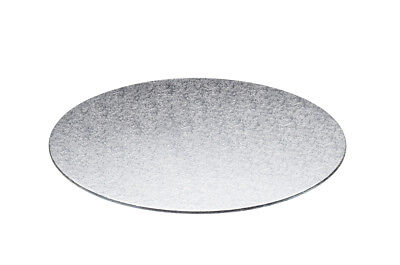 NEW KitchenCraft Sweetly Does It Silver Cake Board Round 35cm
