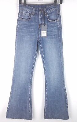 54030a3975 NEW Denim CoLab Saltwater & Song Horseshoe Cropped Ink High Waist Jeans  Size 8