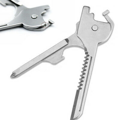 Keyring Tool 6 in1 Swiss Tech Multifunction Bottle Opener Utili Key Screwdriver